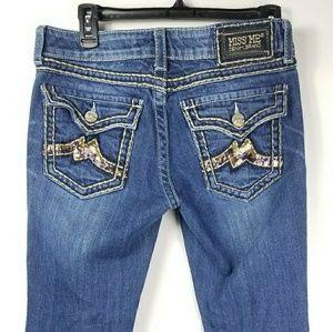 Miss Me Jeans Size 30x34 Boot Cut Sequin Denim